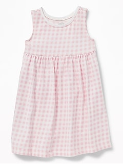 Sleeveless Empire-Waist Jersey Dress for Baby