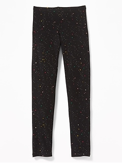 Jersey Full-Length Leggings for Girls