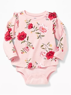 2-in-1 Ruffle-Trim Bodysuit for Baby
