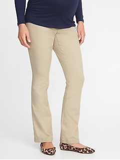 Maternity Side-Panel Everyday Boot-Cut Khakis