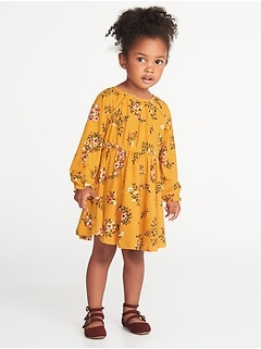 Fit & Flare Floral Dress for Toddler Girls