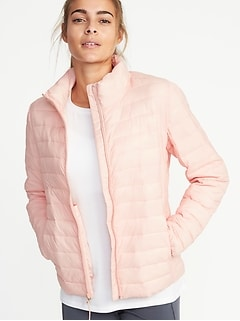 Packable Quilted Nylon Jacket for Women