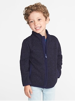 Sweater-Fleece Jacket for Toddler Boys