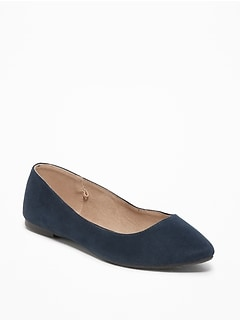 Sueded Pointy Ballet Flats for Women