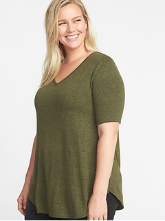 Luxe Plus-Size Curved-Hem Tunic