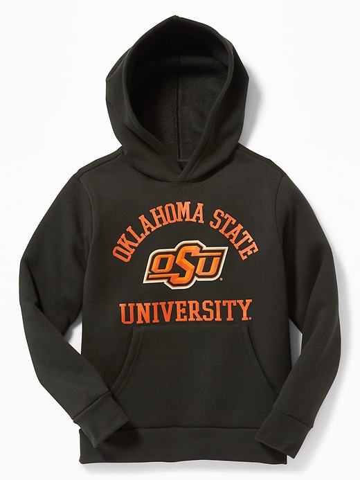 College-Team Graphic Pullover Hoodie for Boys