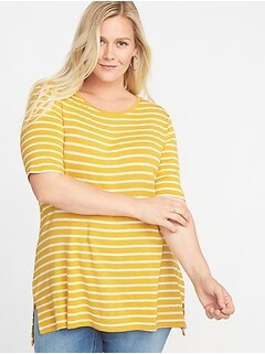 Plus-Size EveryWear Striped Tunic
