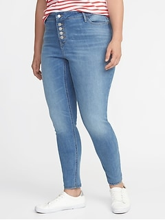 High-Rise Secret-Slim Pockets Plus-Size Button-Fly Rockstar Jeans