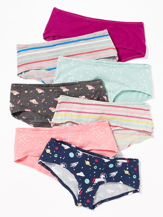 Printed Hipster Underwear 7-Pack for Girls