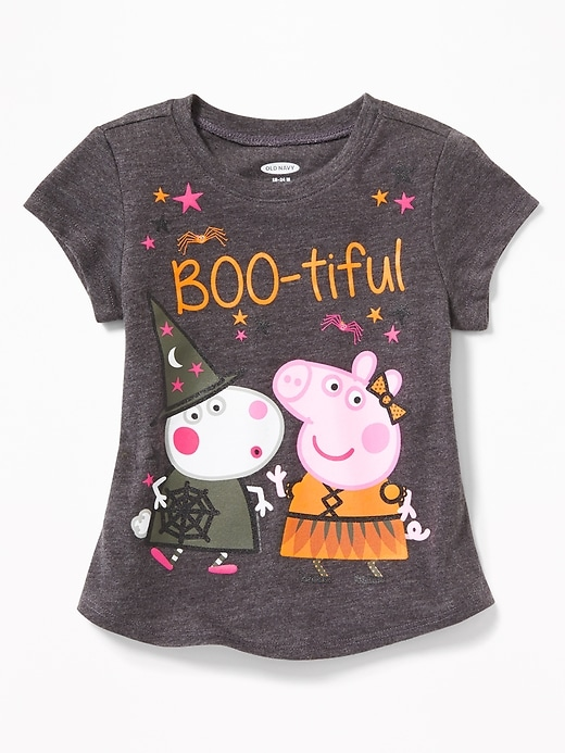 "Peppa Pig&#153 ""Boo-tiful"" Halloween Tee for Toddler Girls"