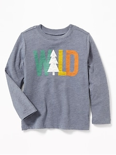 Graphic Crew Neck Tee for Toddler Boys