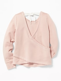 Wrap-Back Performance Sweatshirt for Girls