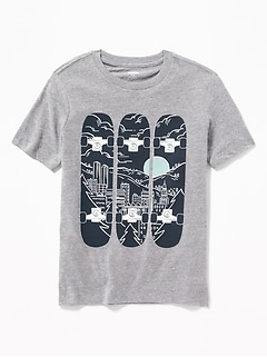 Graphic Crew-Neck Tee for Boys