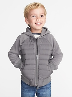 Raglan Zip Hoodie for Toddler Boys