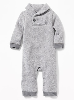 Shawl-Collar One-Piece for Baby