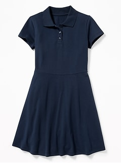 Uniform Pique Polo Dress for Girls