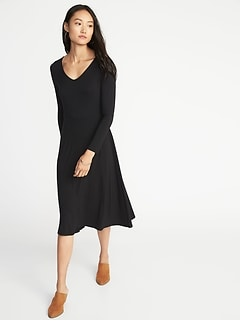 Fit & Flare Jersey Midi for Women