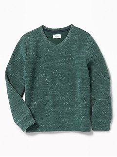French-Rib V-Neck Sweater for Boys