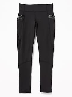 Mid-Rise Go-Dry Street Leggings for Girls