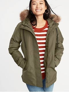 Hooded Utility Parka for Women