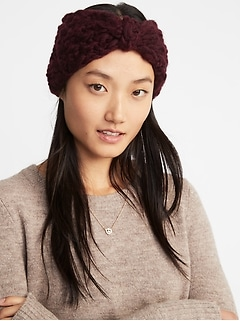 Textured Basket-Weave Earwarmer for Women