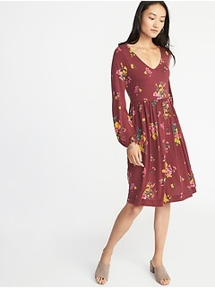 Fit & Flare Jersey Dress for Women