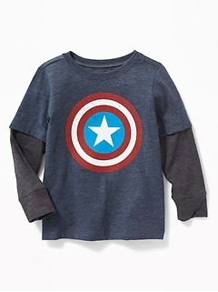 Marvel&#153 Captain America 2-in-1 Tee for Toddler Boys