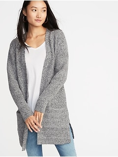 1e5356de7a Long-Line Shaker-Stitch Open-Front Sweater for Women