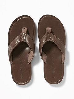 9a6aededeed9 Faux-Leather Flip-Flops for Men