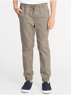 Built-In-Flex Twill Joggers for Boys