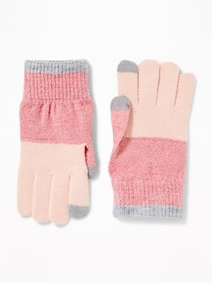 Text-Friendly Sweater-Knit Gloves for Women