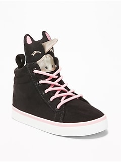 Faux-Suede Unicorn High-Tops for Toddler Girls