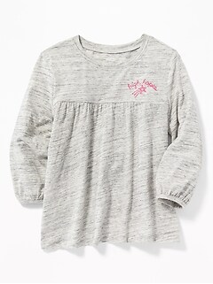 Graphic Boho A-Line Top for Girls