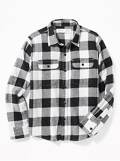 Built-In Flex Flannel Pocket Shirt for Boys