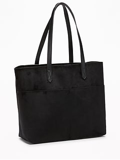 Sueded East-West Tote for Women