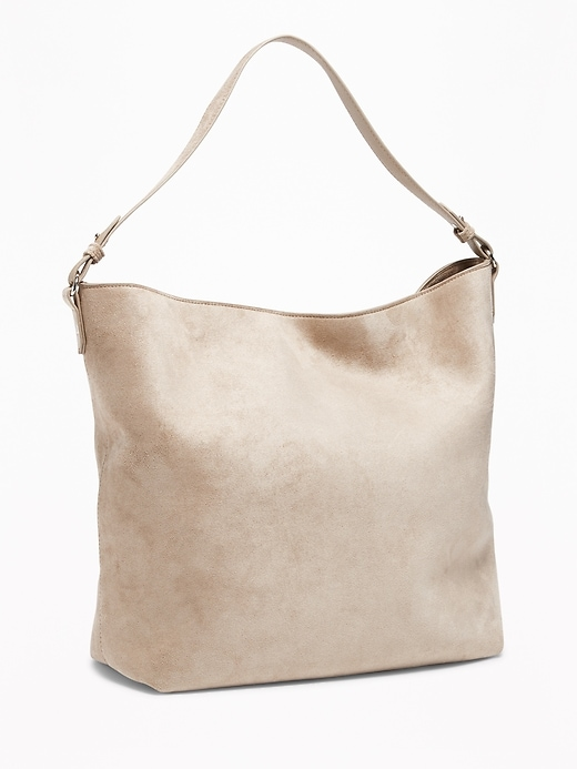 Sueded Slouchy Hobo for Women