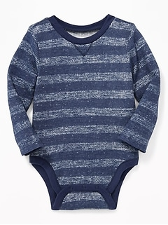 Patterned Thermal-Knit Bodysuit for Baby