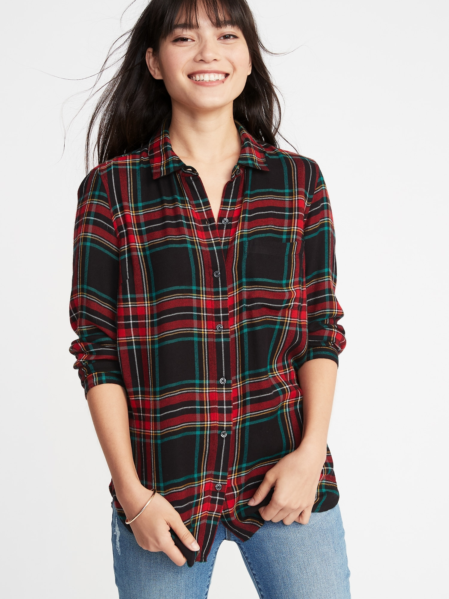 fa7b8c38 Relaxed Classic Soft-Brushed Twill Shirt for Women | Old Navy