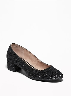 Glitter Block Heels for Women