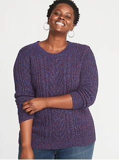 Plus-Size Cable-Knit Sweater