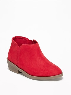 Faux-Suede Booties for Toddler Girls