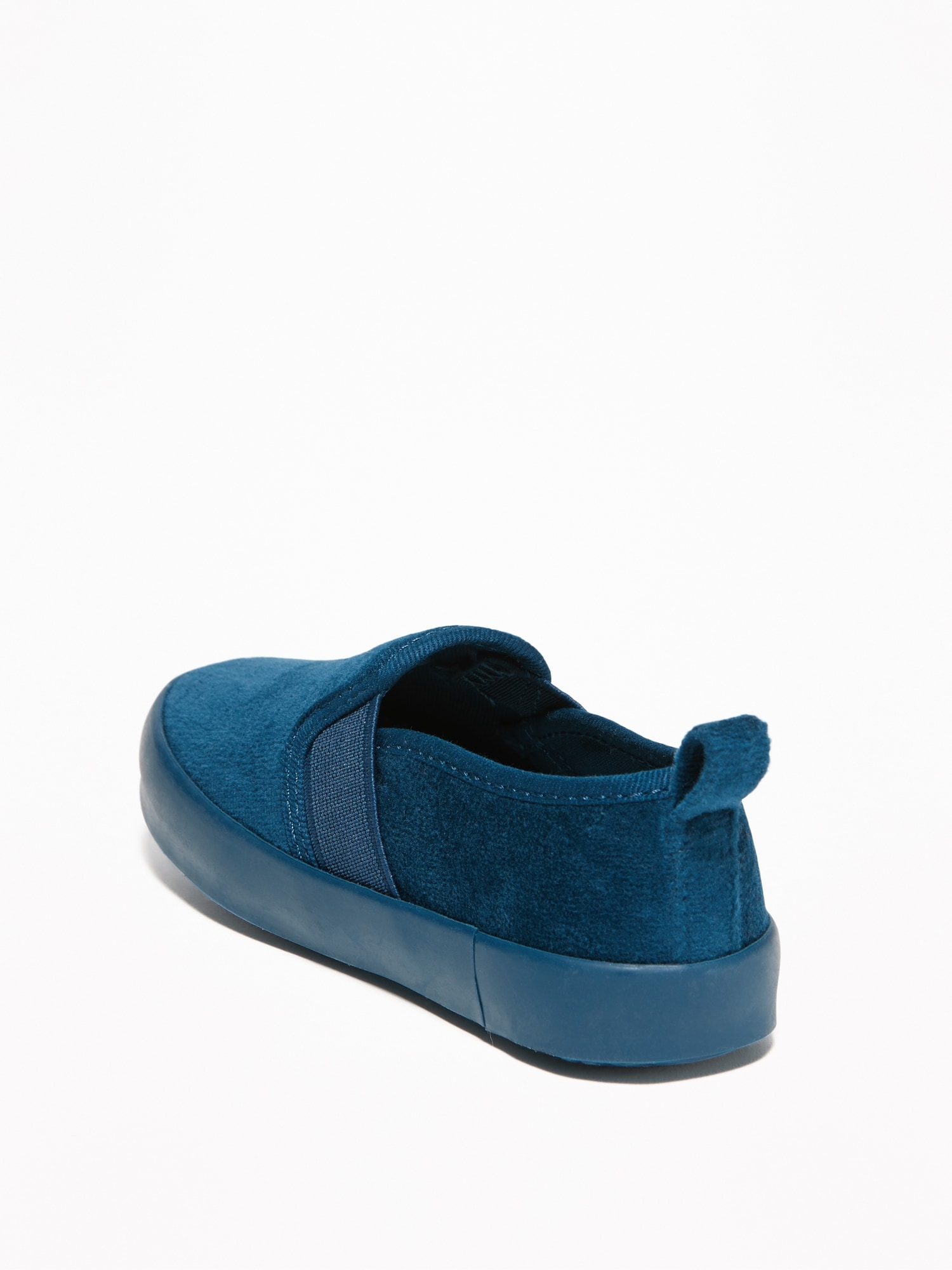 47513435550 Velvet Slip-Ons for Toddler Boys