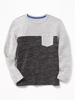 Color-Blocked Sweater-Knit Tee for Boys