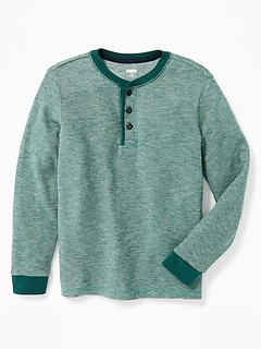 Thermal-Knit Henley for Boys