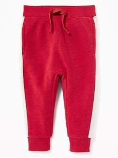 Side-Stripe U-Shape Joggers for Toddler Boys