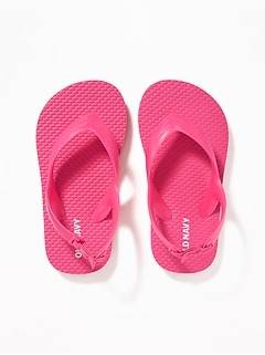 9baa55166c3bd7 Solid-Color Flip-Flops for Toddler Girls