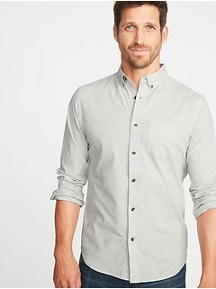 Slim-Fit Built-In Flex Everyday Neps Shirt for Men