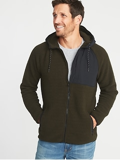 Go-Warm Sherpa Nylon-Trim Hooded Jacket for Men
