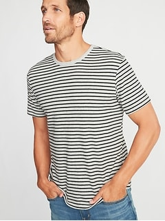 Striped Plush-Knit Tee for Men