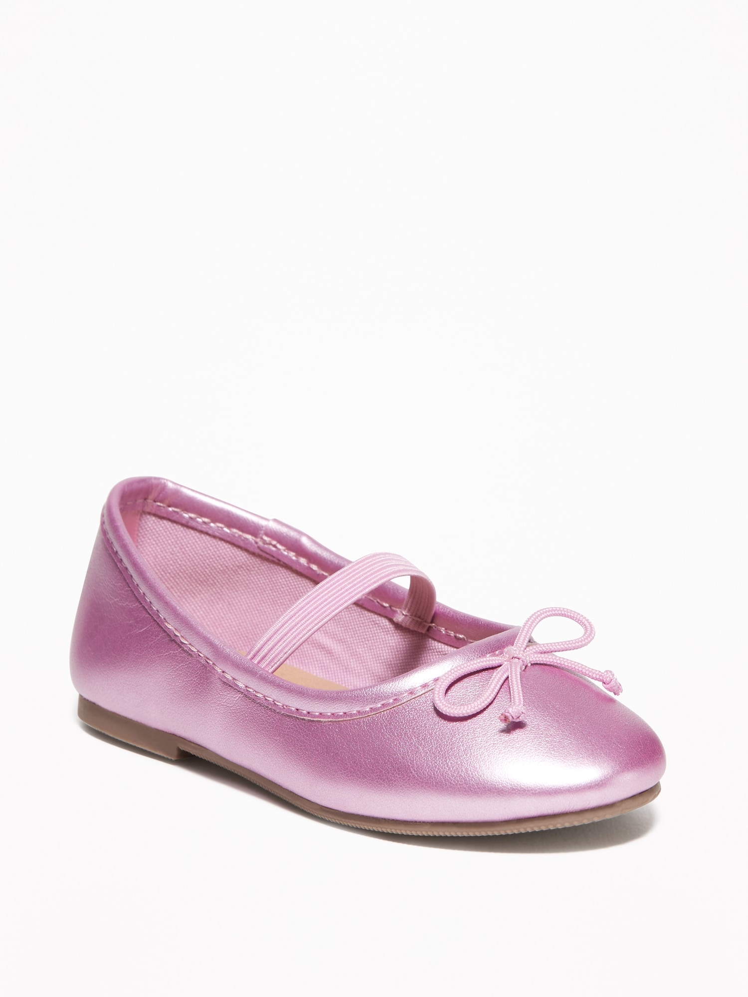 664831b297f Metallic Faux-Leather Ballet Flats for Toddler Girls